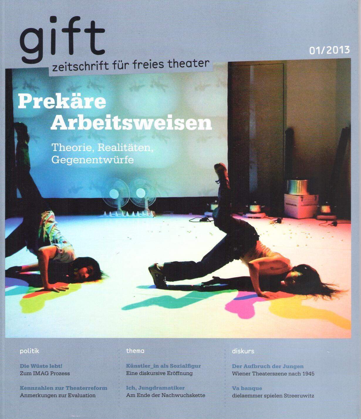 gift zeitschrift f r freies theater freietheater. Black Bedroom Furniture Sets. Home Design Ideas