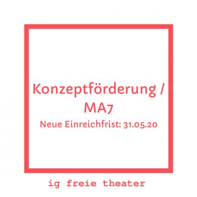 Konzeptfoerderung Ma7 Neue Einreichfrist: 31.05.20